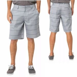 O'Neill Flynn Gray Plaid Board Shorts Hybrid